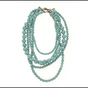 Large Chunky Turquoise Strand Statement Necklace